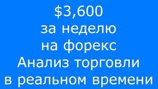 $3,600 ЗА НЕДЕЛЮ НА #ФОРЕКС. АНАЛИЗ ТОРГОВЛИ В РЕАЛЬНОМ ВРЕМЕНИ.