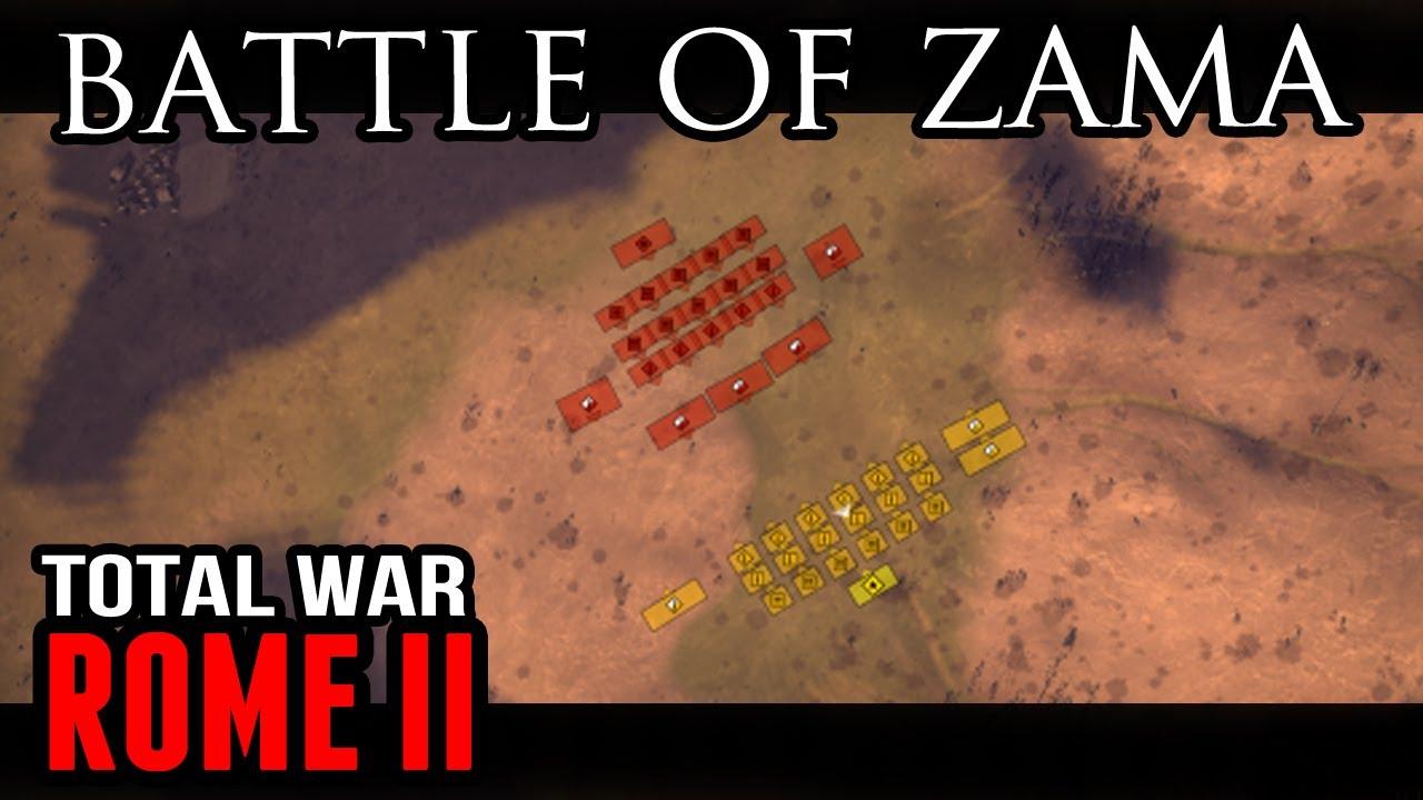 Total War: Rome II - Battle of Zama (Tactical View) - YouTube