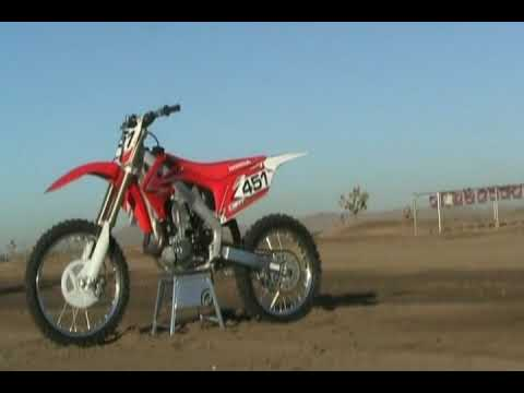 2010 Honda CRF 450R First Test Review Video