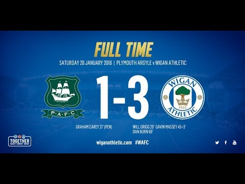HIGHLIGHTS: Plymouth Argyle 1 Wigan Athletic 3 - 20/01/18