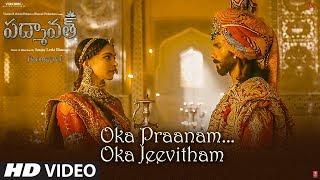Oka Praanam Oka Jeevitham Song | Padmaavat | Deepika Padukone,Shahid Kapoor,Ranveer Singh