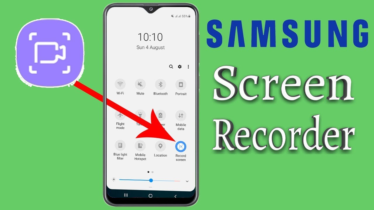 How to screen record in samsung a50