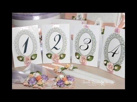 Свадьба своими руками номерки стола
