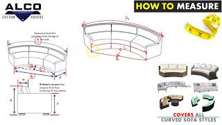 How to Measure For A Outdoor Curved Sofa Covers – Style 1