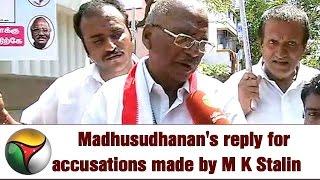 OPS Team Madhusudhanan Speaks On M K Stalin Allegations On Jayalalithaa's Death