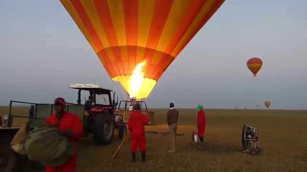 東非肯亞~馬賽馬拉大草原熱氣球升空