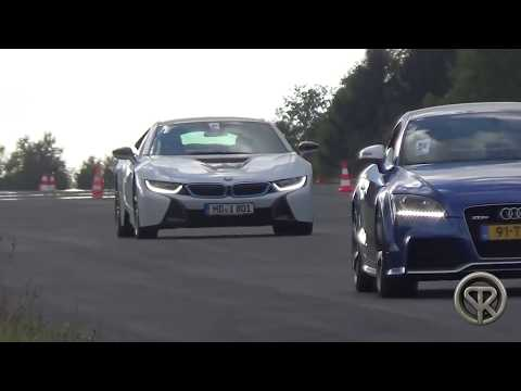 Drag Race Bmw I8 Vs Audi R8 V8 Amazing Youtube