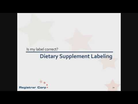 U.S. FDA Regulations for Dietary Supplements