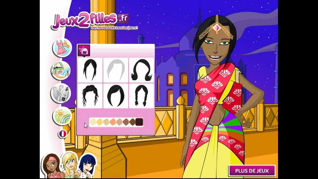 Jeu d'habillage d'une indienne Jeux de fille YouTube