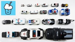 Police car for kids with tomica トミカ VooV ブーブ 変身 lego playmobil tayo  타요 꼬마버스 타요 중앙차고지