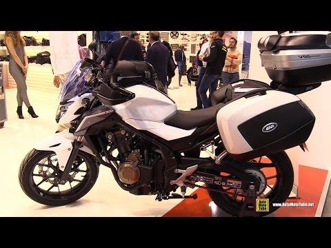2016 Honda CB500F GIVI Accessorized - Walkaround - 2016 EICMA Milan