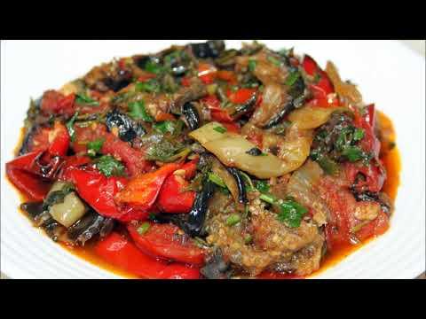 Аджапсандали обжаренный. Овощное рагу. Ajapsandali Fried. Vegetable Stew. აჯაფსანდალი შემწვარი