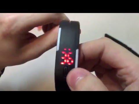 Cмотреть видео онлайн LED часы браслет  Водонепроницаемые, ударопрочные, не убиваемые