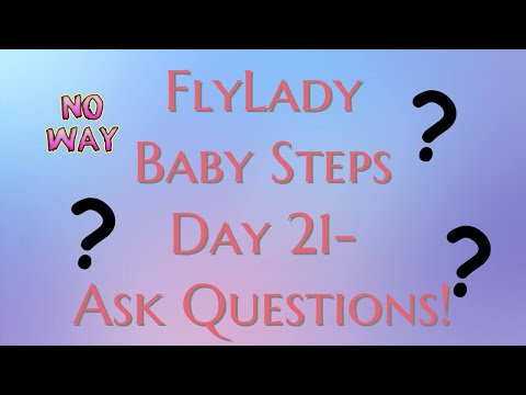 Flylady Baby Steps Day 21// Ask Questions