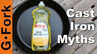 Use Soap On Cast Iron? - 3 Cast Iron Myths - GardenFork.TV