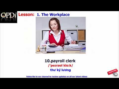 Oxford dictionary - 1. The Workplace - learn English vocabulary with picture
