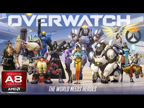 AMD A8-7600 APU Gaming - Overwatch
