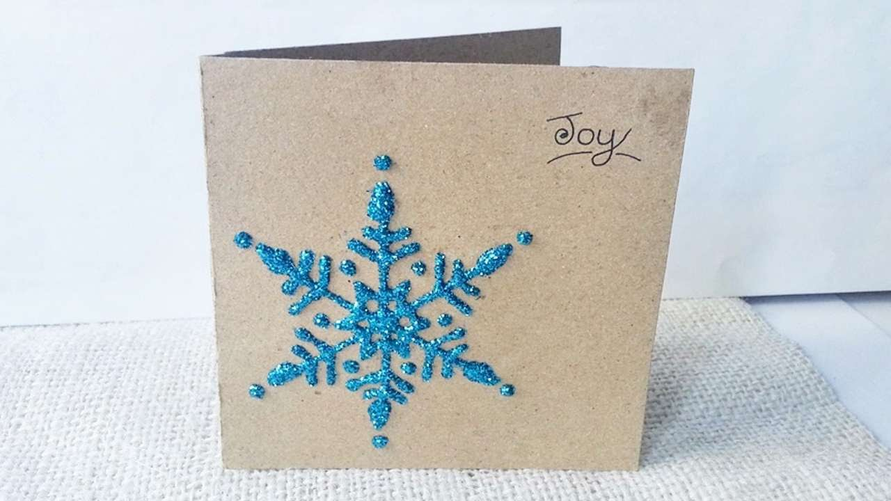 How To Create A Snowflake Christmas Card - DIY Crafts Tutorial ...