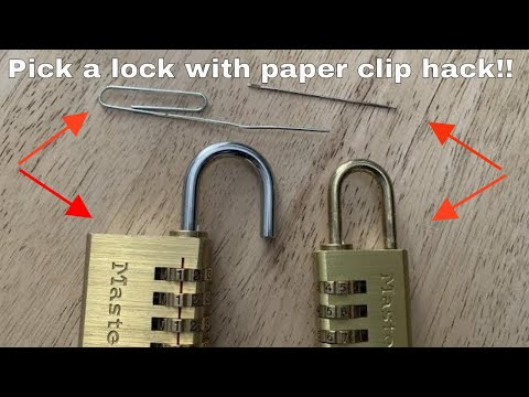 How To Pick A Combination Lock With A Paper Clip / Sewing Needle Life Hack