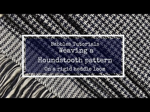 How To Weave A Houndstooth Scarf On A Rigid Heddle Loom