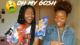 | AMERICANS TRY GREEK SNACKS! *must watch*| tramsue |
