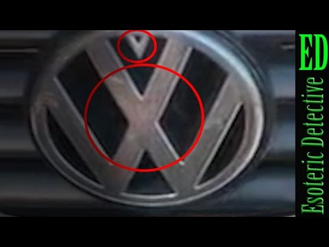 mandela effect | old volkswagen logo on car caught on camera