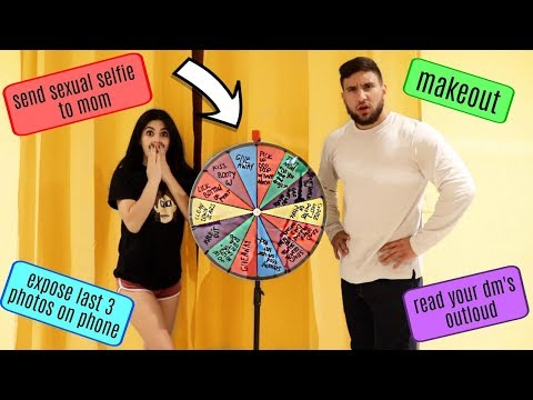COUPLES SPIN THE WHEEL CHALLENGE!!!