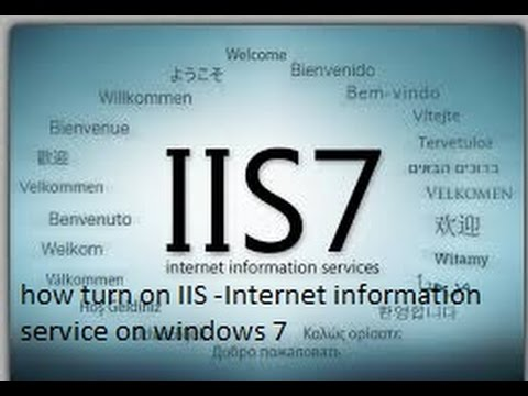 turn IIS on windows 7 internet informatin service....most viewed