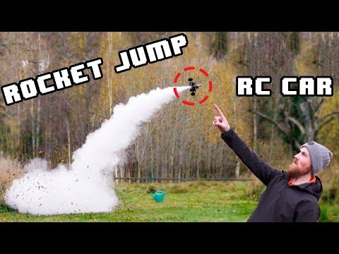 VERTICAL ROCKET JUMP RC CAR - part 1 - (It works!) - Build and first drive/flight