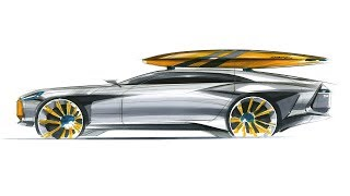 How to sketch a car(Shooting brake)