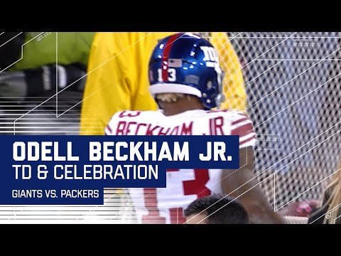 Odell Beckham Jr. Scores & Kisses the Kicking Net! | Giants vs. Packers | NFL