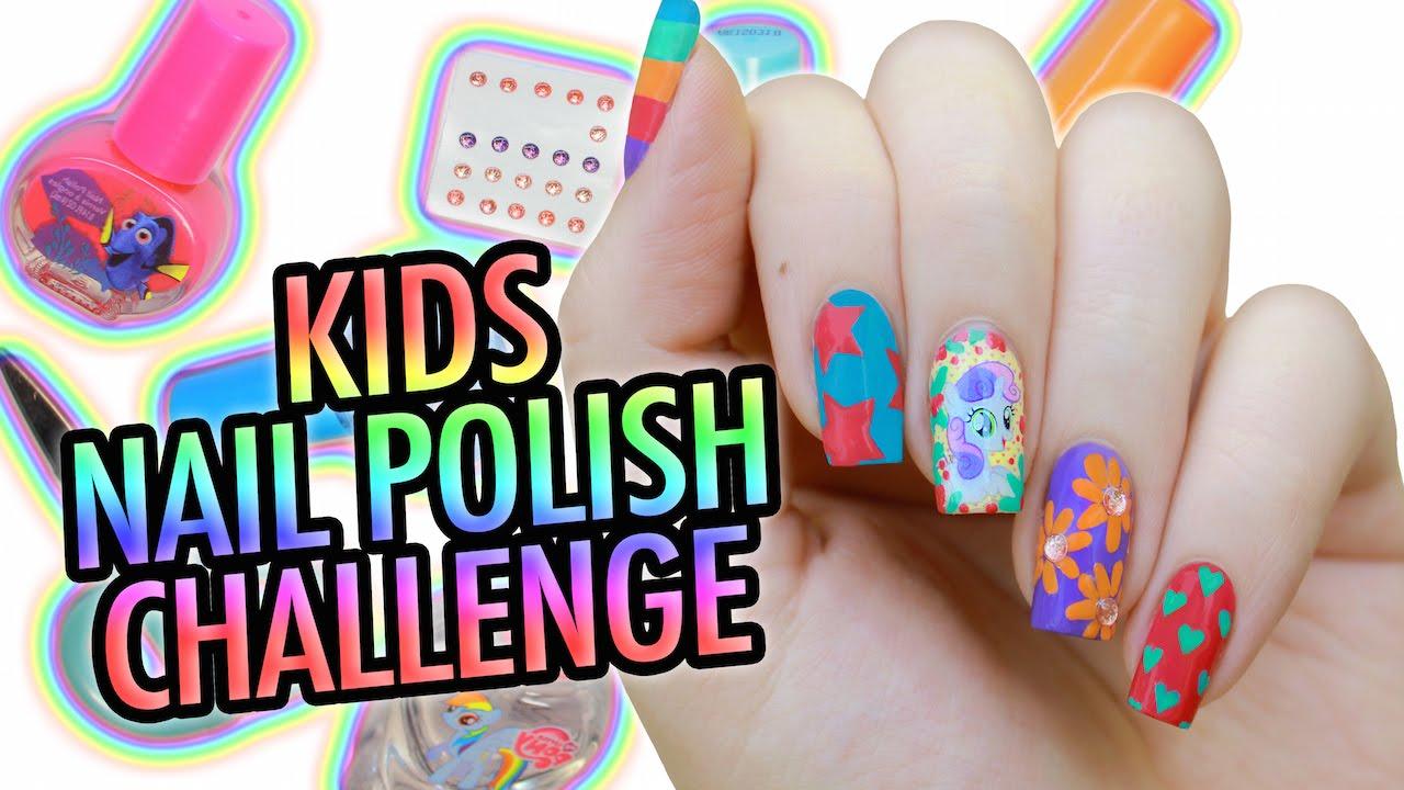 My Little Pony Nail Art Kids Nail Polish Challenge Youtube