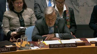 UN chief says 'We cannot give up for the sake of the Syrian people'