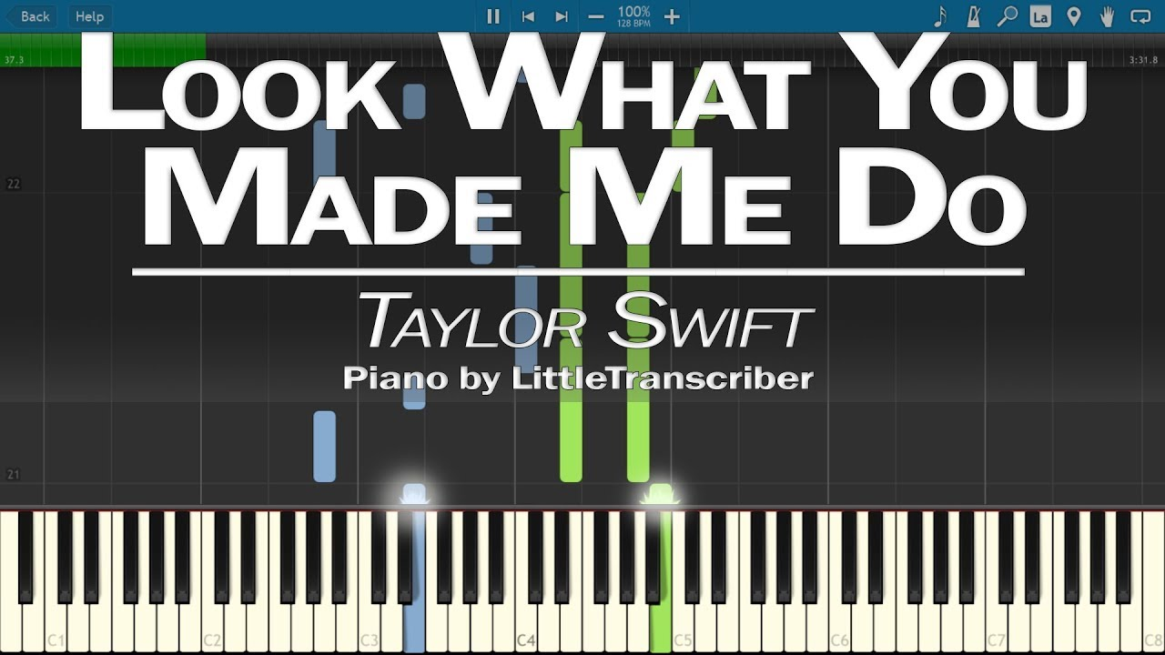 look what you made me do piano pdf
