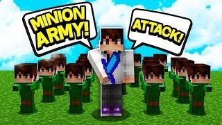My minion army is FINALLY ready... (Minecraft Skyblock)