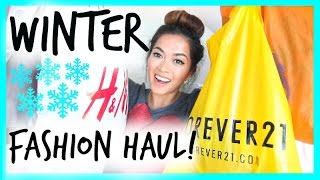 WINTER FASHION HAUL! Forever 21, Nordstrom, Urban Outfitters, H&M + More!