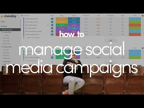 How to manage social media campaigns with monday.com