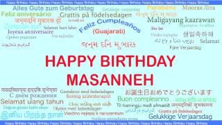 Masanneh   Languages Idiomas - Happy Birthday