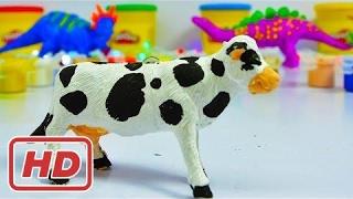Lernen Sie Farben für Kinder mit Malvorlagen Kuh | Farben für Kinder lernen W / Kuh | Farben lernen