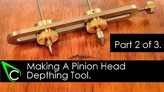 Home Machine Shop Tool Making - Machining A Pinion Head Depthing Tool - Part 2