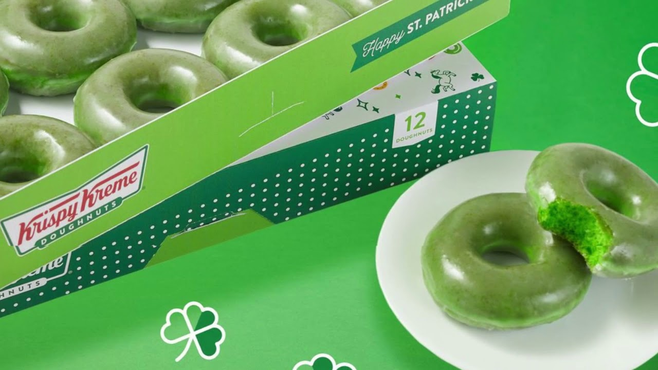 Krispy Kreme Is Giving Fans Free Green Donuts On St. Patrick's Day