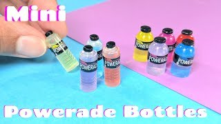 DIY Miniature Powerade Bottles - Sports Drink - Dollhouse