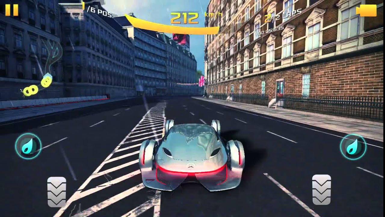 Asphalt 8 Airborne Mercedes Benz Silver Lightning Play Through