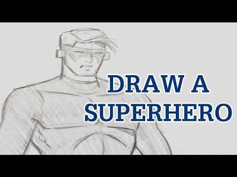 Learn To Draw Cl Ic Superhero
