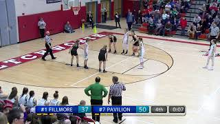 SEC. V GIRLS B-BALL CLASS D1 FINAL | #1 Fillmore vs #7 Pavilion