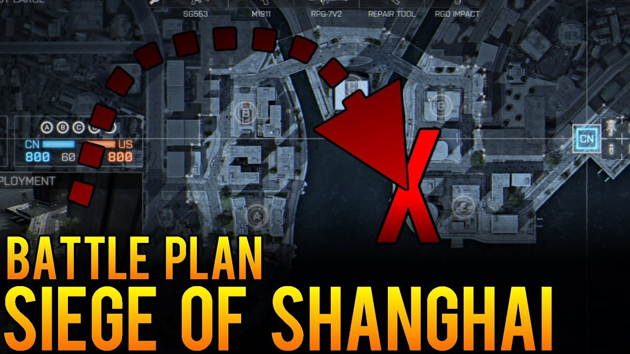 Battle Plan Siege Of Shanghai Battlefield BF Conquest Map - Shanghai on map with us