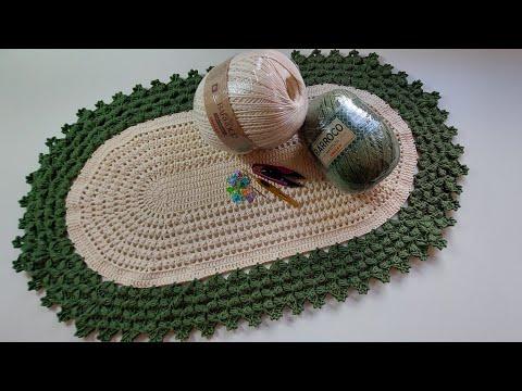 Tapete Oval Puro Capricho - Pink Artes Croche by Rosana Recchia