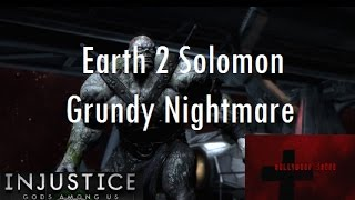Repeat youtube video Injustice Gods Among Us iOS - Earth 2 Solomon Grundy Challenge Full Nightmare Difficulty