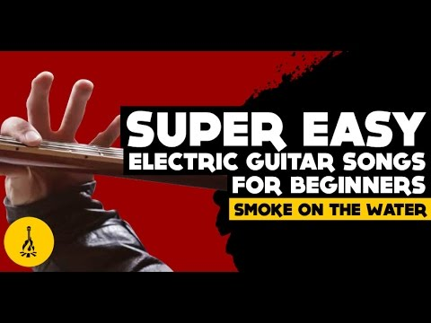 super easy electric guitar songs for beginners smoke on the water guitar riff tab youtube. Black Bedroom Furniture Sets. Home Design Ideas