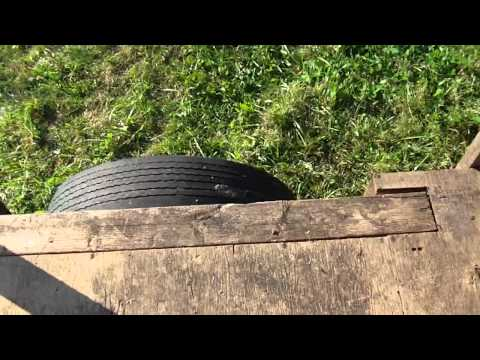 Homemade wood trailer with VW suspension